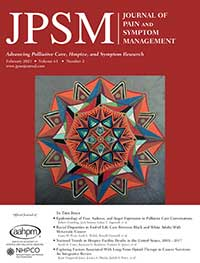 Journal of Pain and Symptom Management journal cover