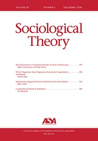 Sociological Theory Journal Cover
